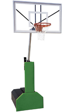 First Team Thunder Pro Glass Portable Basketball Goal