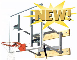 Bison PKG650 Glass Shooting Station Wall Mounted Adjustable Basketball Goal