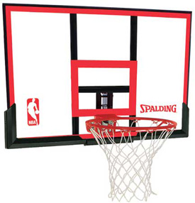 Spalding 79354 48 inch Poly Carbonate Basketball Backboard Rim Combo