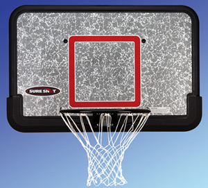 Sure Shot 44' Eco-Composite Backboard w/ Rim