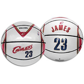 Spalding 64-543E NBA Lebron James Player Home Jersey Basketball