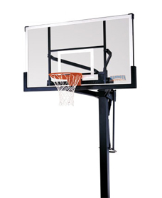 Mammoth 72 inch Tempered Glass Bolt Down Pro Hoops System Bolt-Down