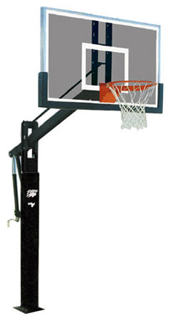 Bison BA9750 Power Adjust Williamsburg Glass Basketball Goal